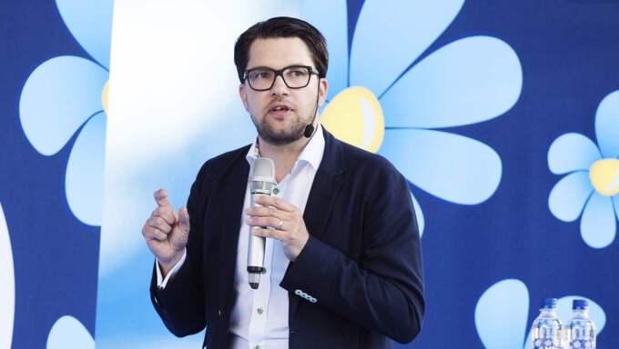 Jimmie Åkesson och Sverigedemokraterna är det parti som går mest framåt i nya mätningen. Foto: Anna-Karin Nilsson
