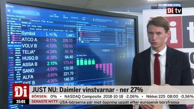 Daimler vinstvarnar - Frankfurtbörsen ner