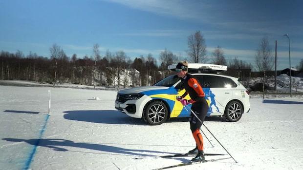 [red]TV:[/Red] Här vinner Maja Dahlqvist - mot en bil (!)