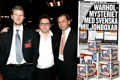 Christian Holmén, Leo Lagerkrantz och Micke Ölander var reportrana som drog fram avslöjandet om de falska Brilloboxarna. Något som ledde till Guldspaden 2007. Foto: Lindwall Sven
