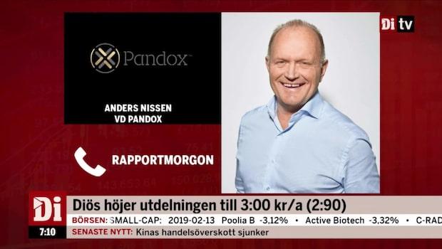"""""""Rapporten visar på en fortsatt stark utveckling för Pandox"""""""