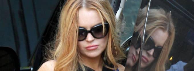 Lindsay Lohan påstår att bromsarna på hennes bil inte fungerade, och att det var därför som hon krockade natten till lördag svensk tid. Foto: Stella pictures