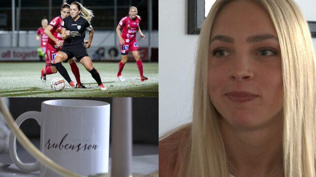 Fotbollsspelaren Elin Rubensson designar eget