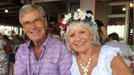 Christina Schollin och maken Hans Wahlgren har sedan över tio år tillbaka ett hus i Spanien. Foto: PRIVAT