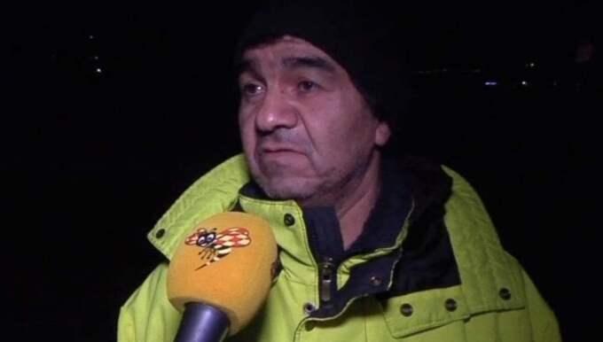 Juan Castillo, 50, bor i området och gick tidigare i dag förbi brottsplatsen. Foto: Expressen