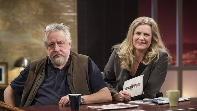 """I """"Veckans brott"""" pratar Leif GW Persson och Camilla Kvartoft om uppropet uppropet #tystnadtagning. Foto: / TT NYHETSBYRÅN"""