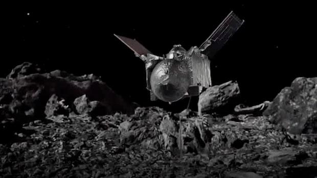 Rymdsond landade på asteroid        – ska ta med grus till jorden