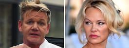 Pamela Andersons  ilska mot tv-kocken
