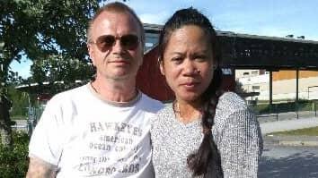 Morona Labergue och Magnus Österström förlorade sin lille son under förlossningen. Foto: Privat
