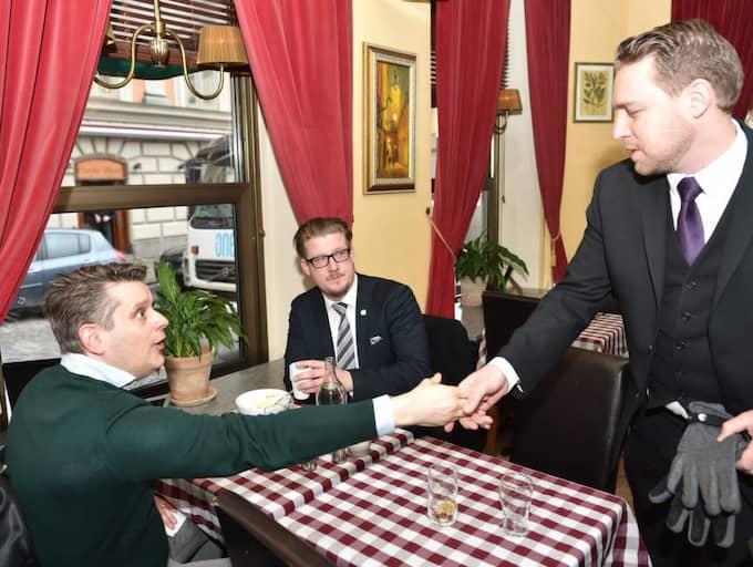 Marcus Birro, Linus Bylund och Mattias Karlsson. Foto: Mikael Sjöberg