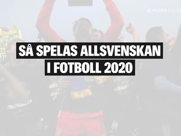 Så spelas allsvenskan i fotboll 2020