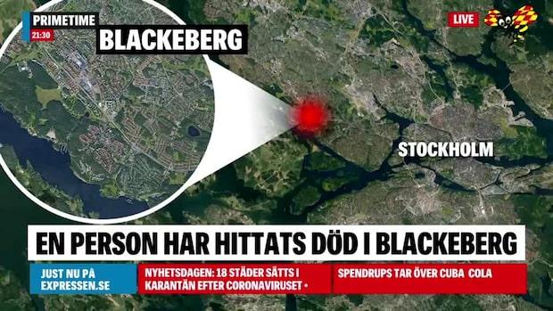 En person hittad död i Blackeberg