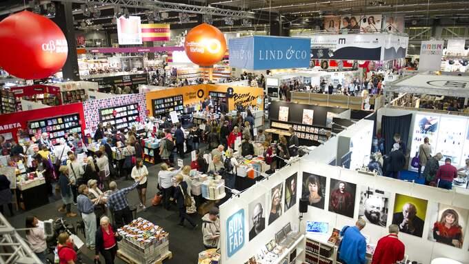 Bokmässan äger rum i september. Bilden är från ett tidigare tillfälle. Foto: ANNA HALLAMS
