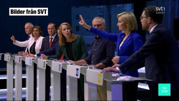 """Se Jimmie Åkessons attack mot Annie Lööf: """"Sluta skrika"""""""
