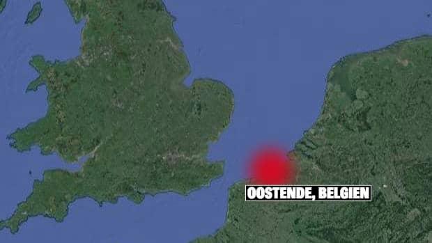 Ubåten sjönk i Nordsjön och hittades i närheten av staden Oostende i Belgien i somras. Foto: Google Maps