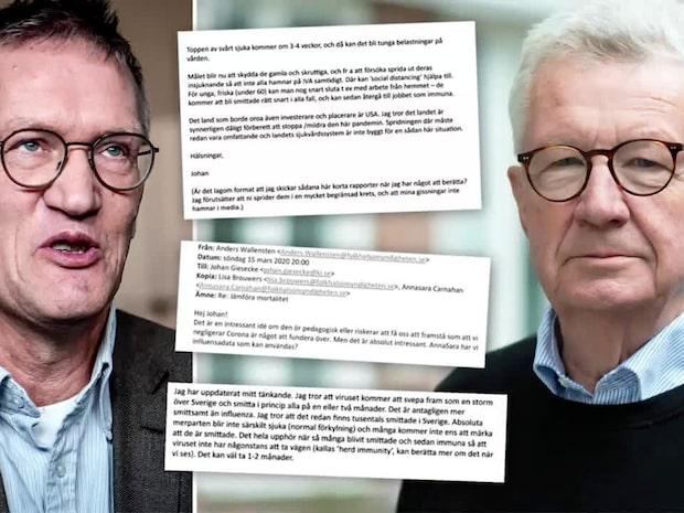 Mail mellan Gisecke och Tegnell avslöjar inflytandet över Folkhälsomyndigheten