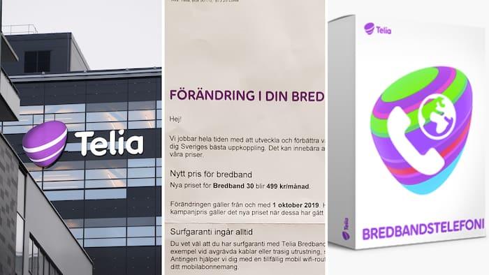 telia bredband kostnad