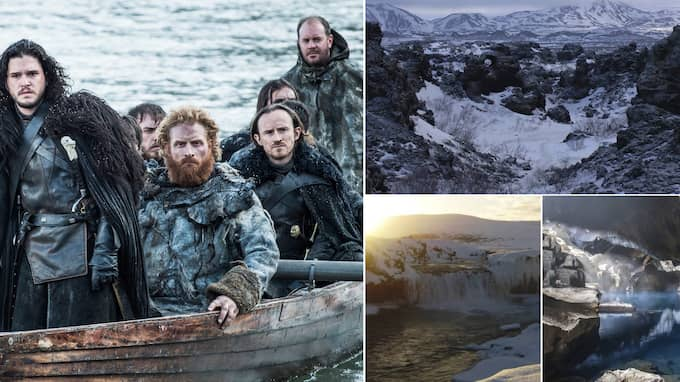 Massor av scener i Game of thrones är inspelade på Island. Foto: HBO och Iceland Travels
