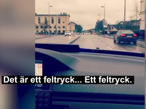 Polisen Calles förklaring om utryckningen inifrån polisbilen