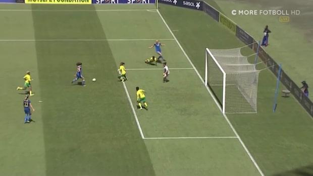 Drömdebuten: Gör mål på sin första touch i landslaget
