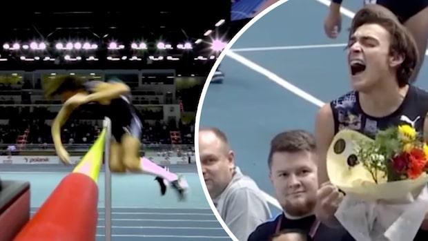 Se när Armand Duplantis sätter världsrekord - hoppar 6,17