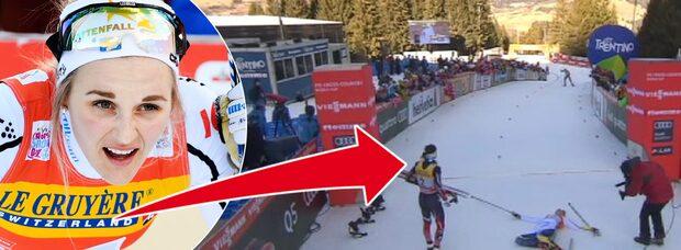 Stina Nilsson trea i Tour de ski - efter drama