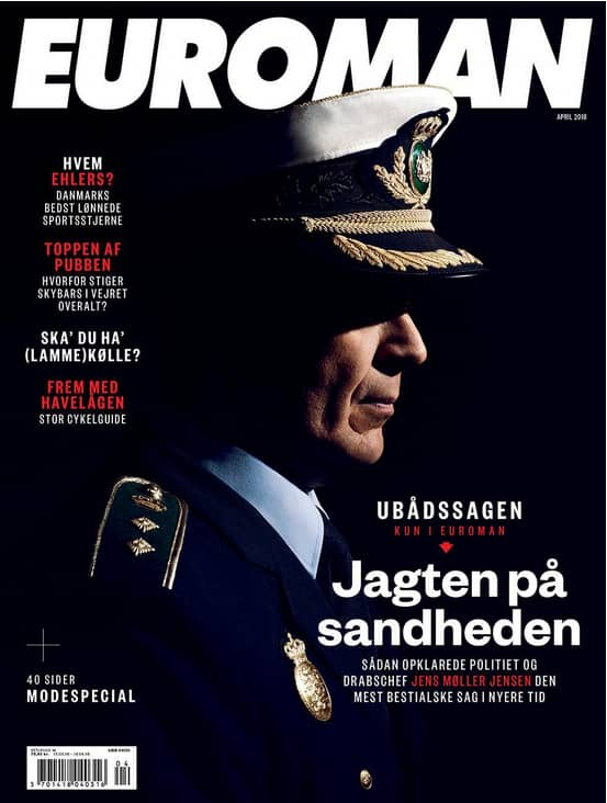 Jens Møller Jensen intervjuas i det nya numret av det danska magasinet Euroman, som kommer ut på torsdag. Foto: SKÄRMDUMP