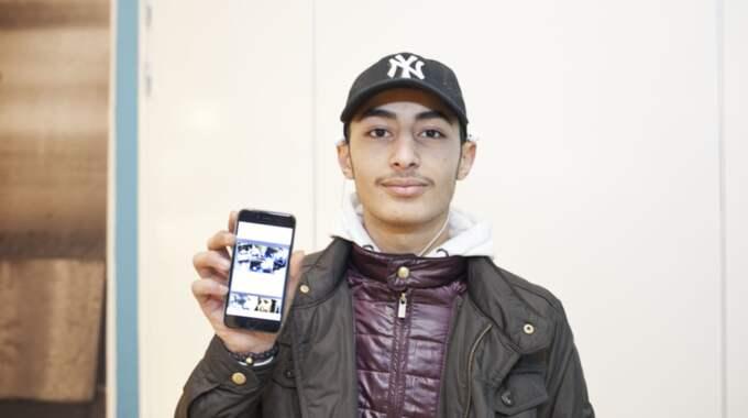 Amer Alruhaimi, 18, student, Stockholm : Jag tycker det är jätteintressant. Det är roligt att läsa på sajten. Jag vill läsa om nya filmer. Foto: Evelina Carborn Exp