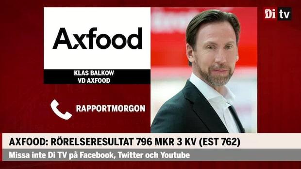 Klas Balkow vd Axfood: Därför har vi stärkt resultatet det här kvartalet