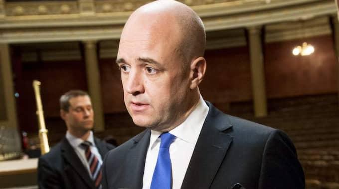 Statsminister Fredrik Reinfeldt ser siffrorna som en varningssignal, men oroas inte. Foto: Jens L'Estrade