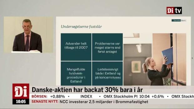 Danske: Vi agerade inte tillräckligt