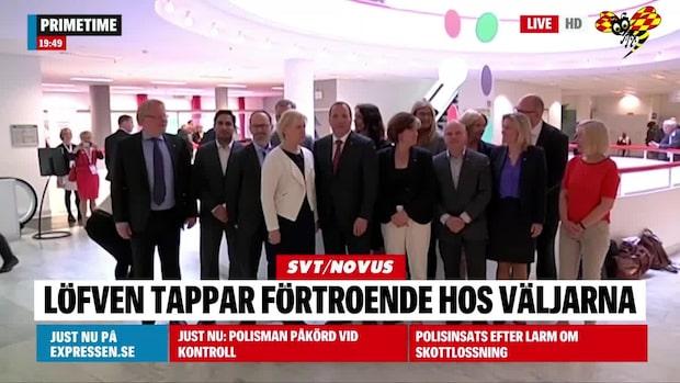 SVT/Novus: Förtroendet minskar för Stefan Löfven