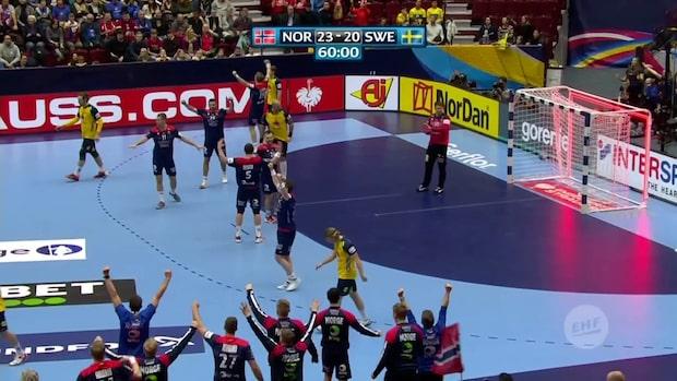 Höjdpunkter: Sverige utslaget ur handbolls-EM