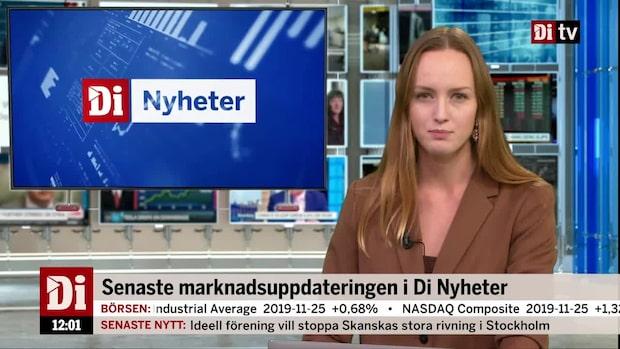 Di Nyheter: Börsen ner - storbankerna tynger