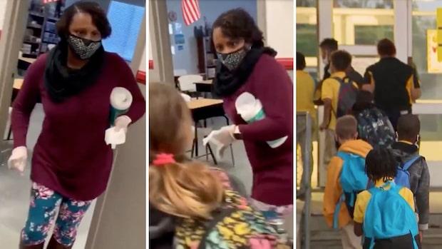 Läraren dansar fram restriktionerna under pandemin