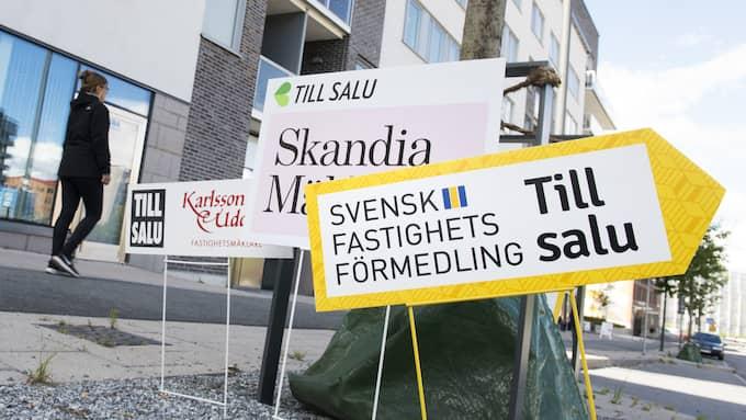 Det kokar på bostadsmarknaden i Sverige. Och hetast är Dalarna och Västernorrland. Foto: Fredrik Sandberg/TT NYHETSBYRÅN