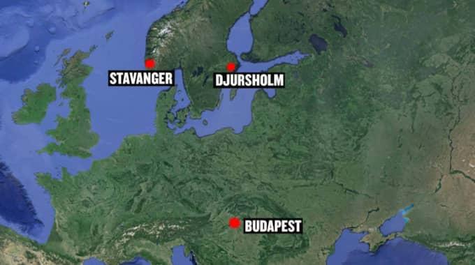 Brittiska skolor i Budapest i Ungern och i norska Stavanger tog också emot bombhot.