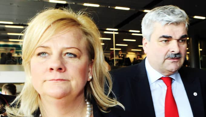Åsa Lindgren och Håkan Juholt. Foto: Cornelia Nordström