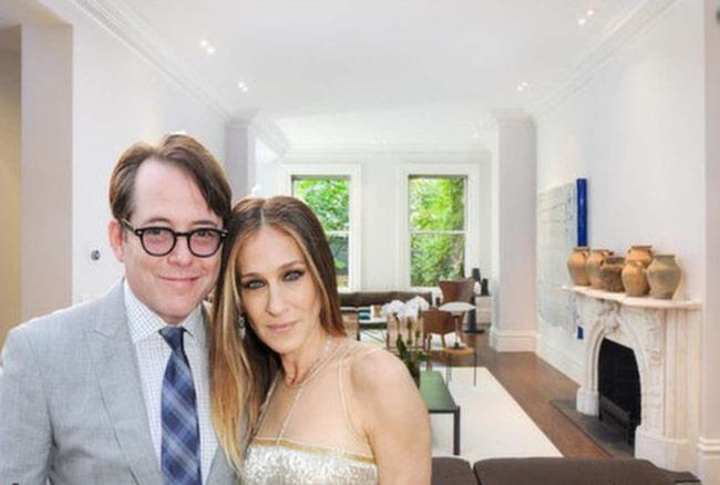 Sarah Jessica Parker och hennes man Matthew Broderick säljer sitt 600 kvadratmeter stora townhouse i Greenwich Village i New York.