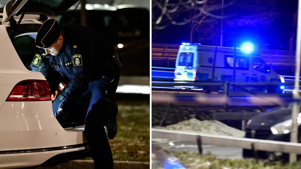 En person har hittats skottskadad i Tensta på lördagskvällen