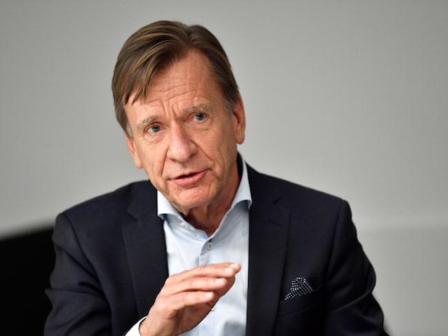 På presskonferensen fick Volvos vd Håkan Samuelsson flera gånger svara på frågor om de uteblivna bonusarna.