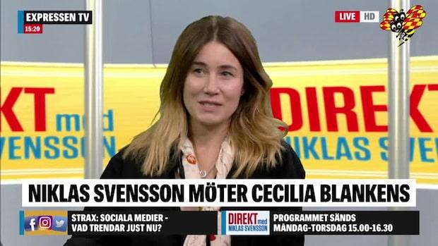 """Cecilia Blankens: """"Vi kan ta ett stort ansvar genom att tänka till lite"""""""