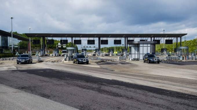 Gränskontrollerna vid Lernacken, Öresundsbron. Foto: Christian Örnberg