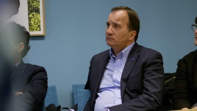 Stefan Löfven bestökte i dag Umeå. Men han vill inte vidare kommentera M-skandalen. Foto: Samuel Pettersson/Tt / TT NYHETSBYRÅN