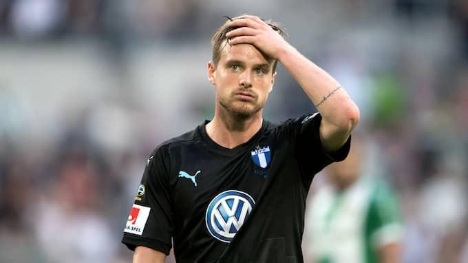 Eric Larsson och MFF förlorade mot Hammarby med 2-3. Foto: ANDREAS L ERIKSSON / BILDBYRÅN