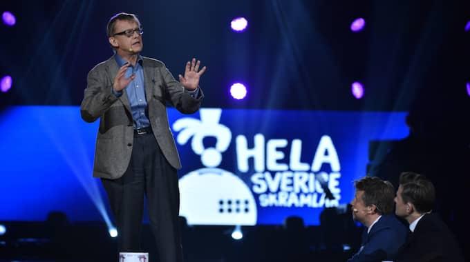 """Hans Rosling på välgörenhetsgalan """"Hela Sverige skramlar"""". Foto: Mikael Sjöberg"""