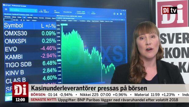 Di Nyheter: Bettingrelaterade bolag ner på oroande USA-utlåtande