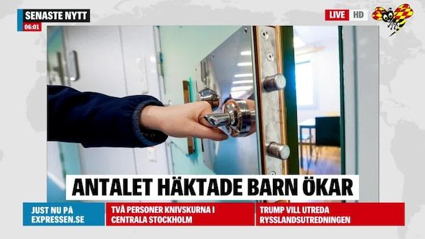 Fler barn i svenska häkten
