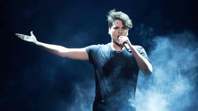 I lördags stod 19-åringen på Melodifestivalens scen i Norrköping. Foto: Sven Lindwall