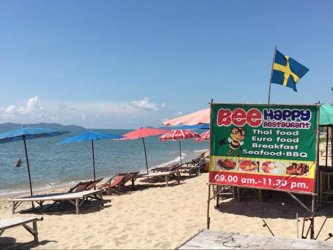 Nar turisterna tar over stranden